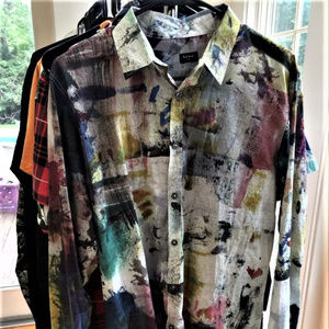 Paul Smith water color print shirt -- Like New!